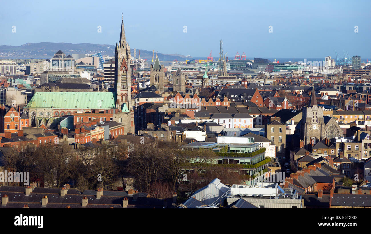 View over Dublin, Ireland - Stock Image