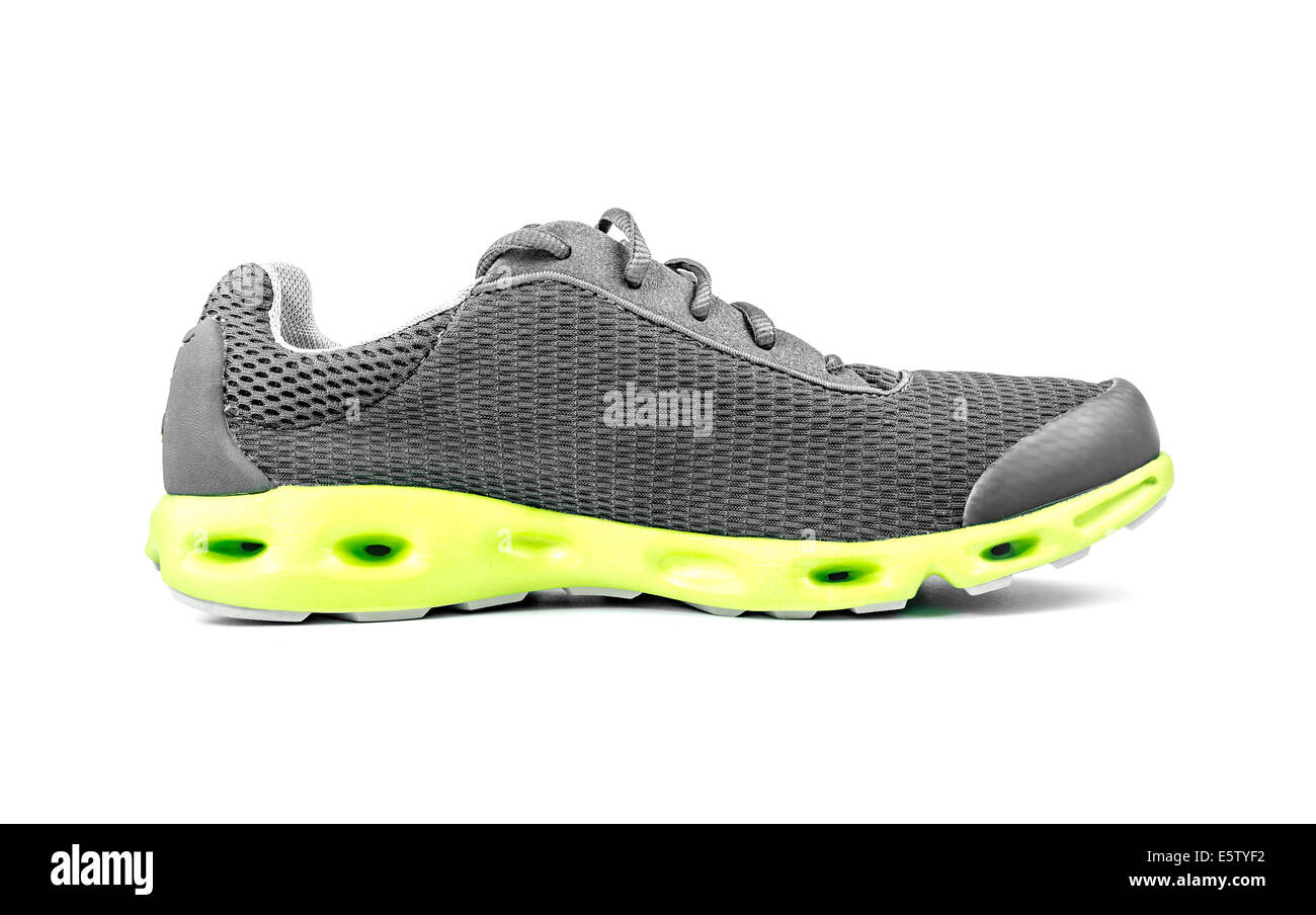 Unbranded Sneaker isolated on a white background - Stock Image