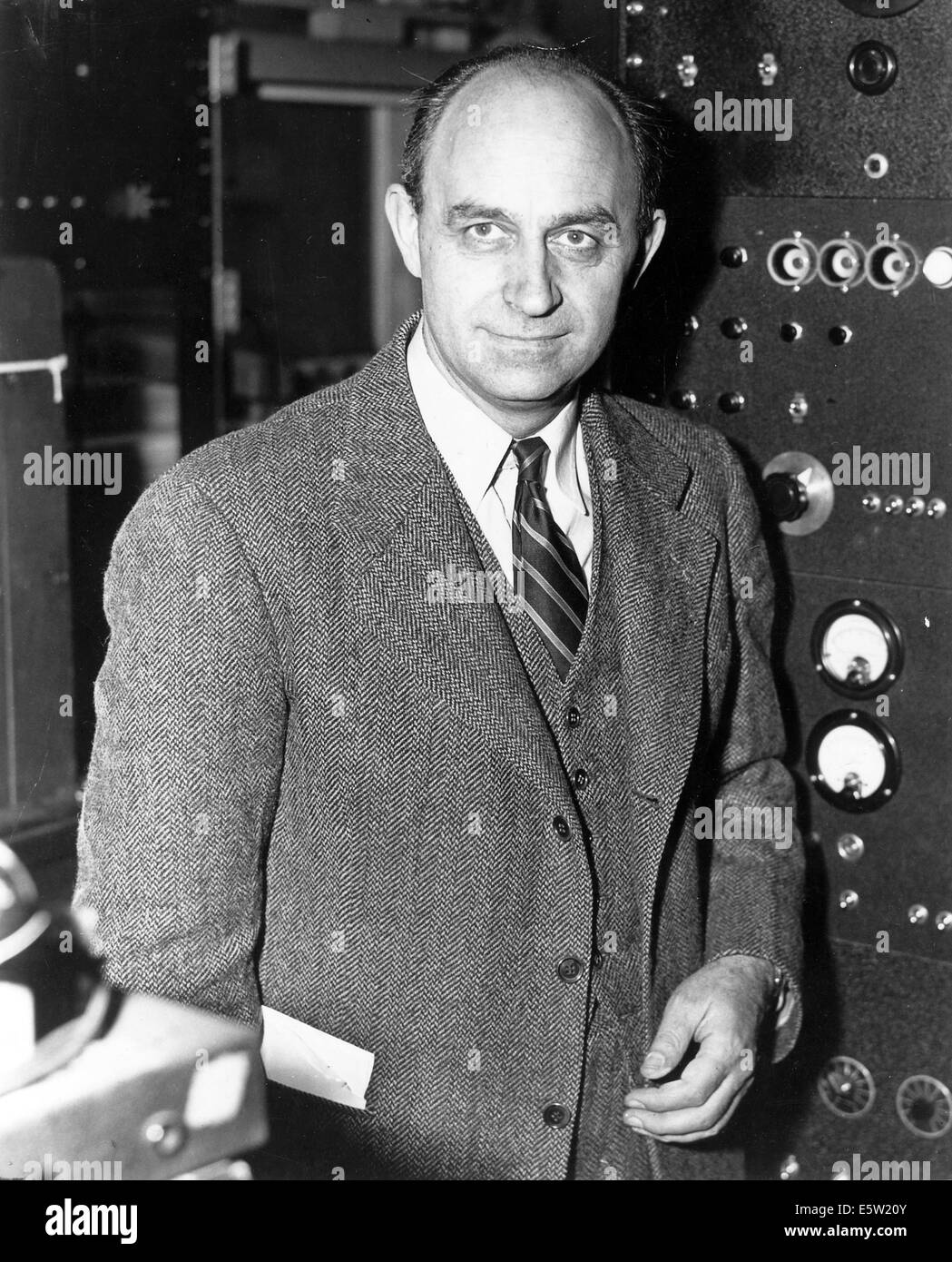 ENRICO FERMI (1901-1954) Italian physicist about 1943. Photo US National Archives - Stock Image
