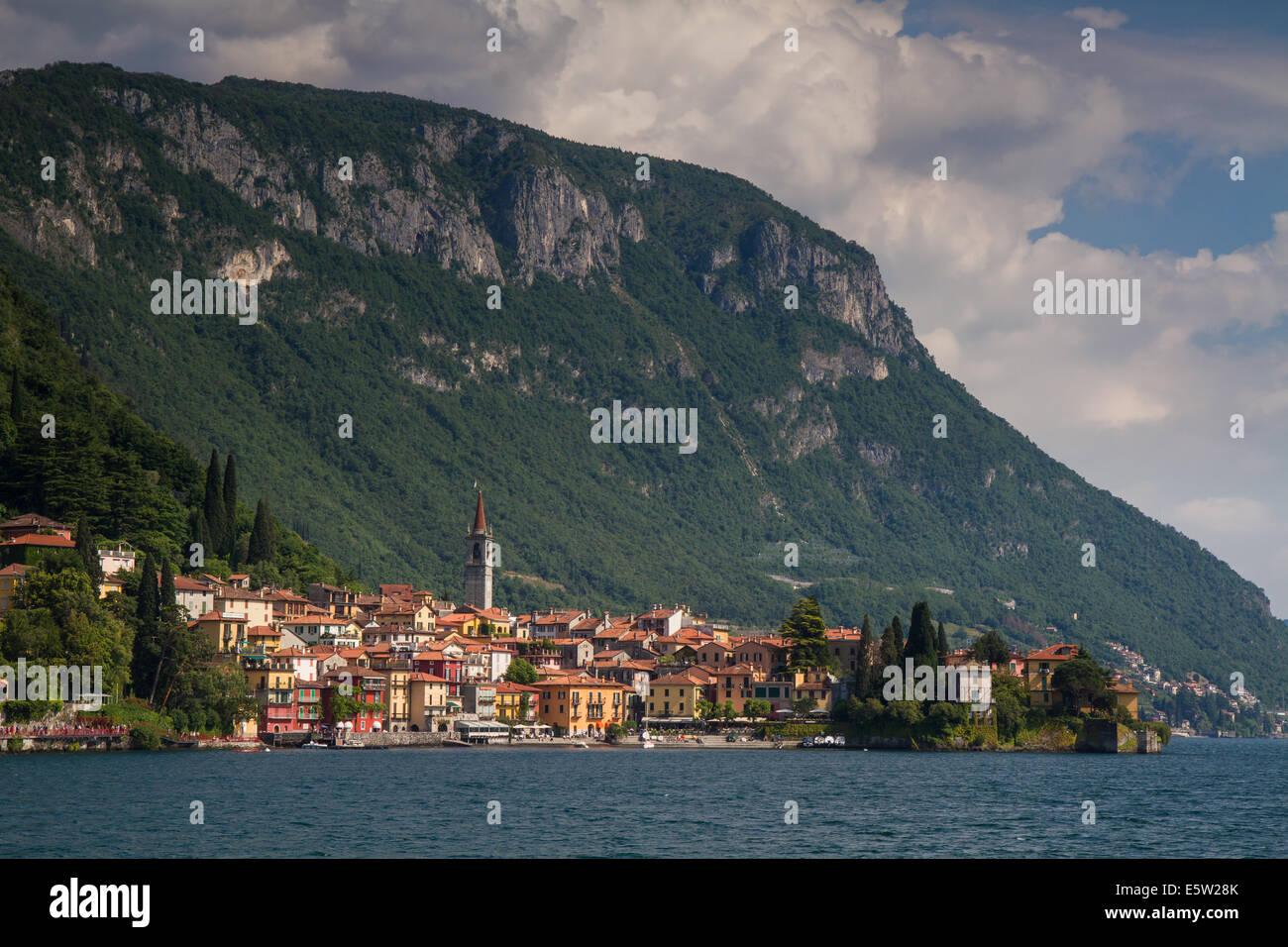 Varenna at Lake Como, Lombardy, Italy - Stock Image
