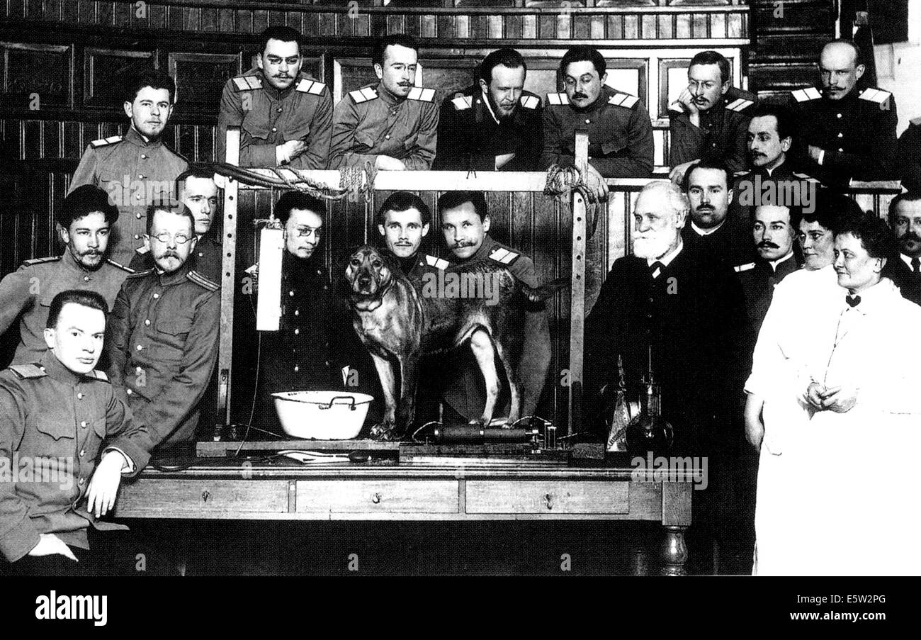 ivan pavlov  1849 1936  russian psychologist  at right dog vector graphic dog vector art