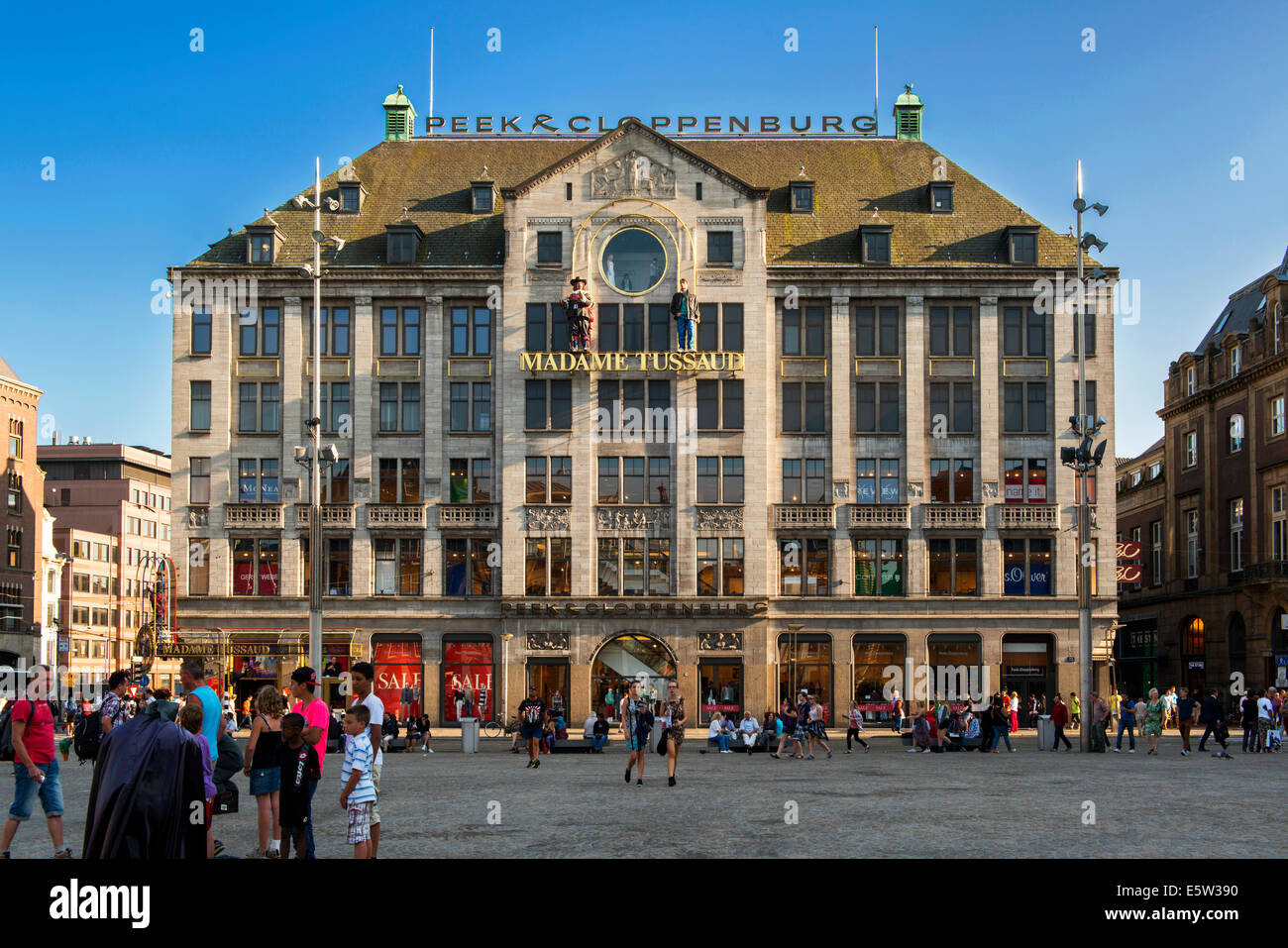 Madame Tussaud, Dam Square, Amsterdam, Holland, netherlands - Stock Image