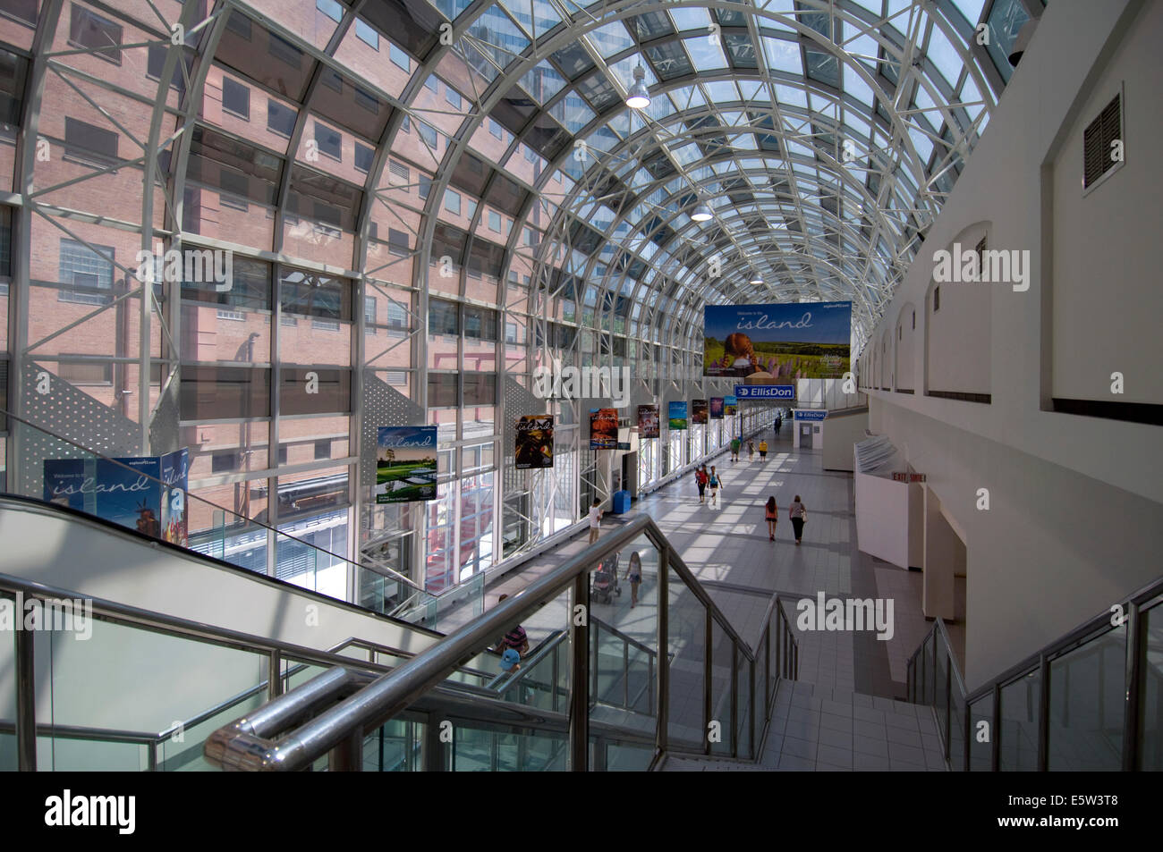 Passageway to Union Station from CN Tower, Toronto, Ontario - Stock Image
