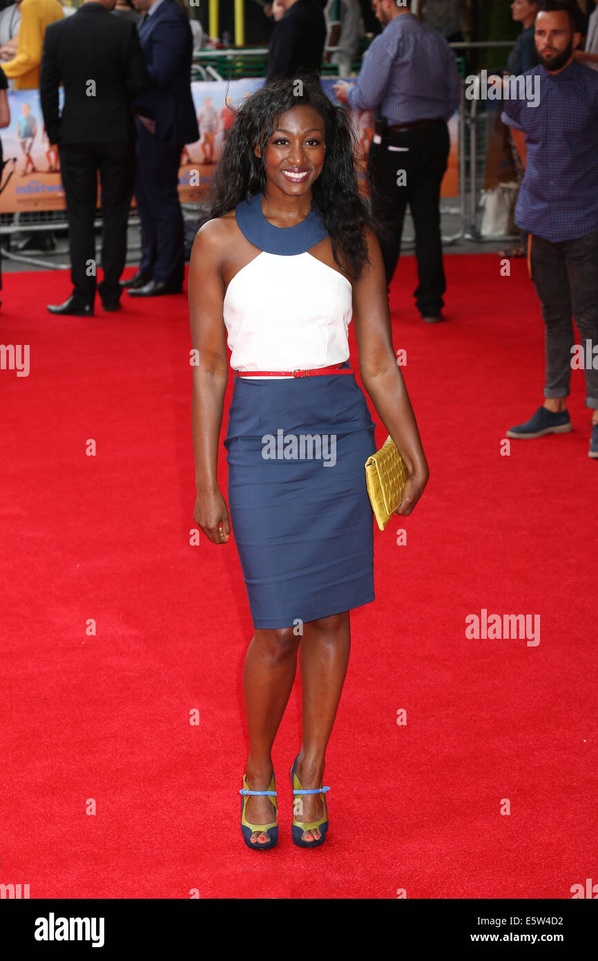 London, UK. 5th Aug, 2014. Beverley Knight attends The World Premiere of The Inbetweeners 2 on 05/08/2014 at The - Stock Image