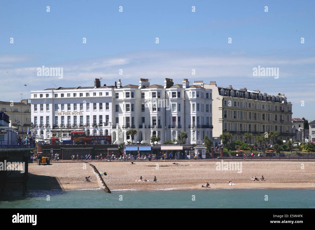 The Pier Hotel at Eastbourne seafront East Sussex - Stock Image