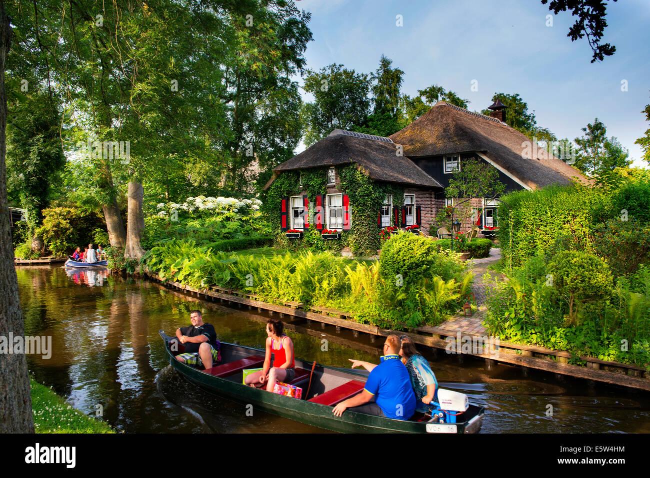 Giethoorn Canals, holland, Netherlands, - Stock Image
