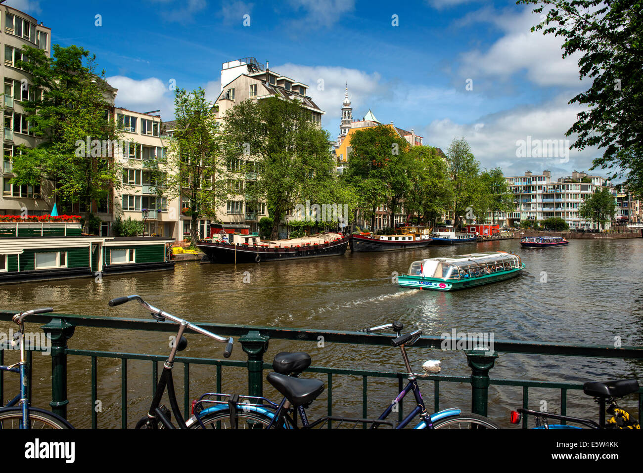 Prinsengracht Canal, Amsterdam, Holland, netherlands - Stock Image