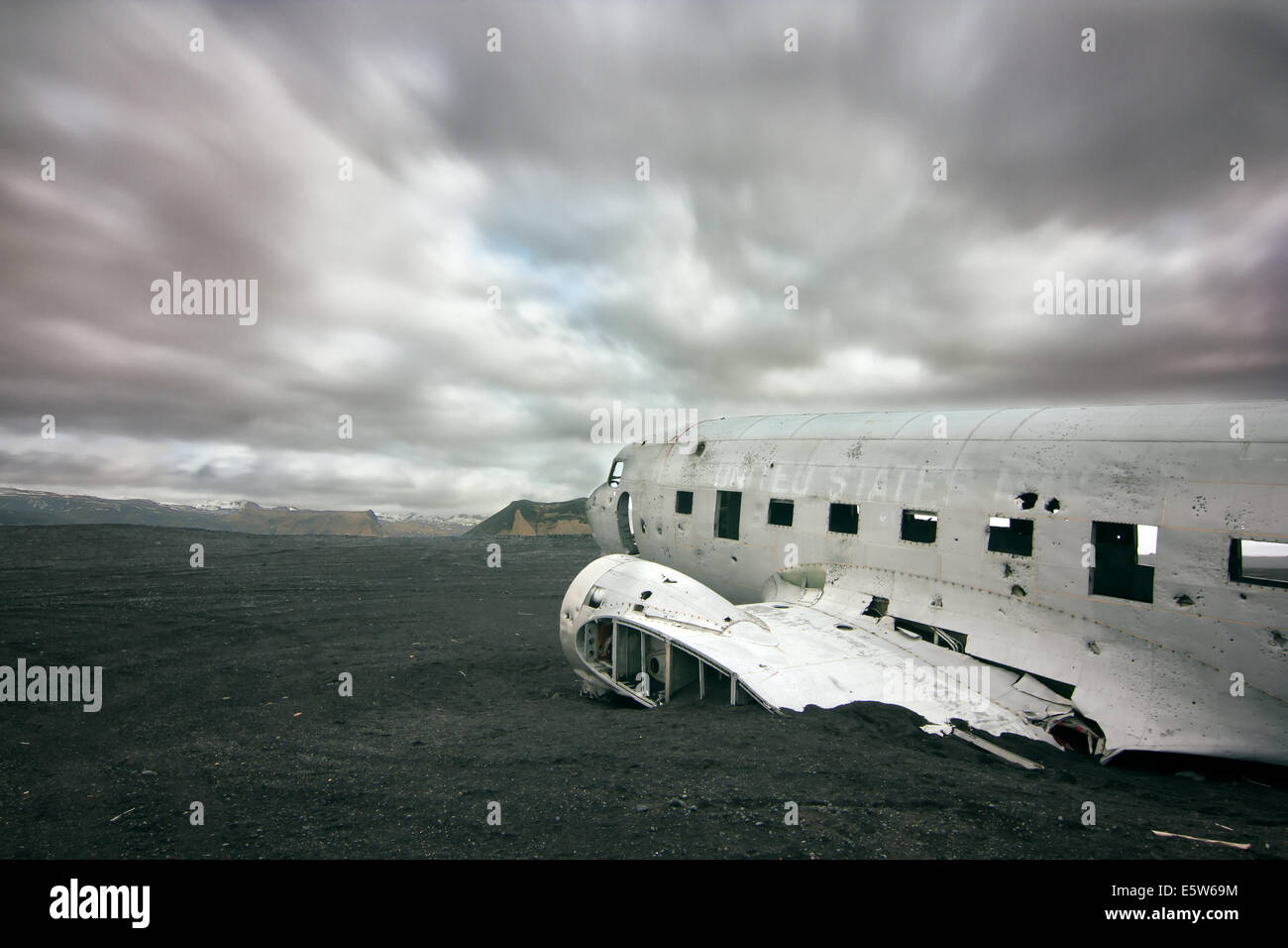 US Navy DC3 crash - Stock Image