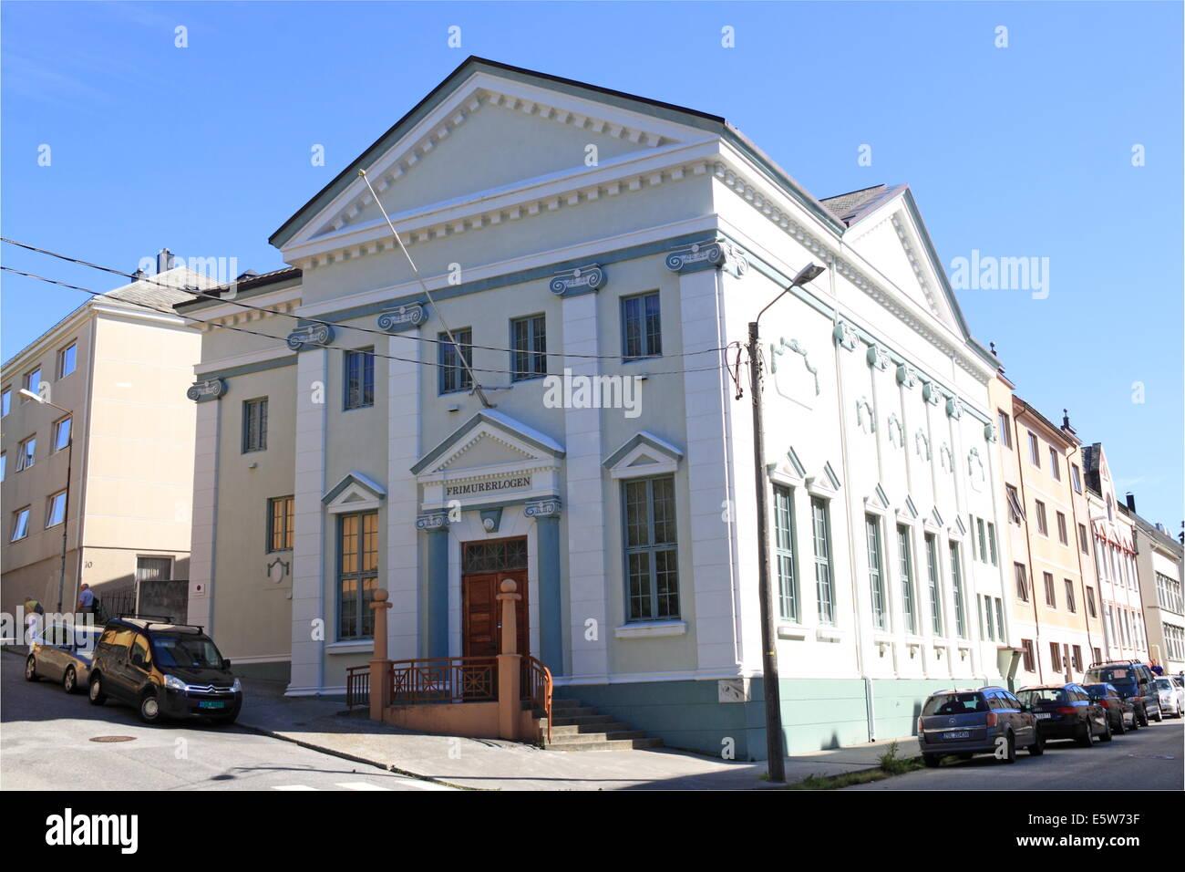 Frimurerlogen (Freemason Lodge), Giskegaten, Ålesund, Sunnmøre, Møre og Romsdal, Vestlandet, Norway, - Stock Image