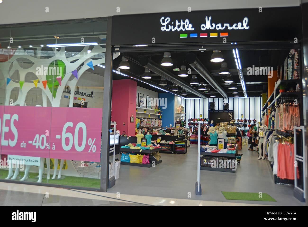 Little Marcel boutique Marseille Bouches-du-Rhone France - Stock Image