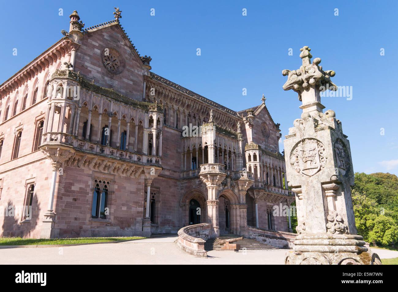 El Palacio de Sobrellano Comillas,  Cantabria, Northern Spain, Europe - Stock Image