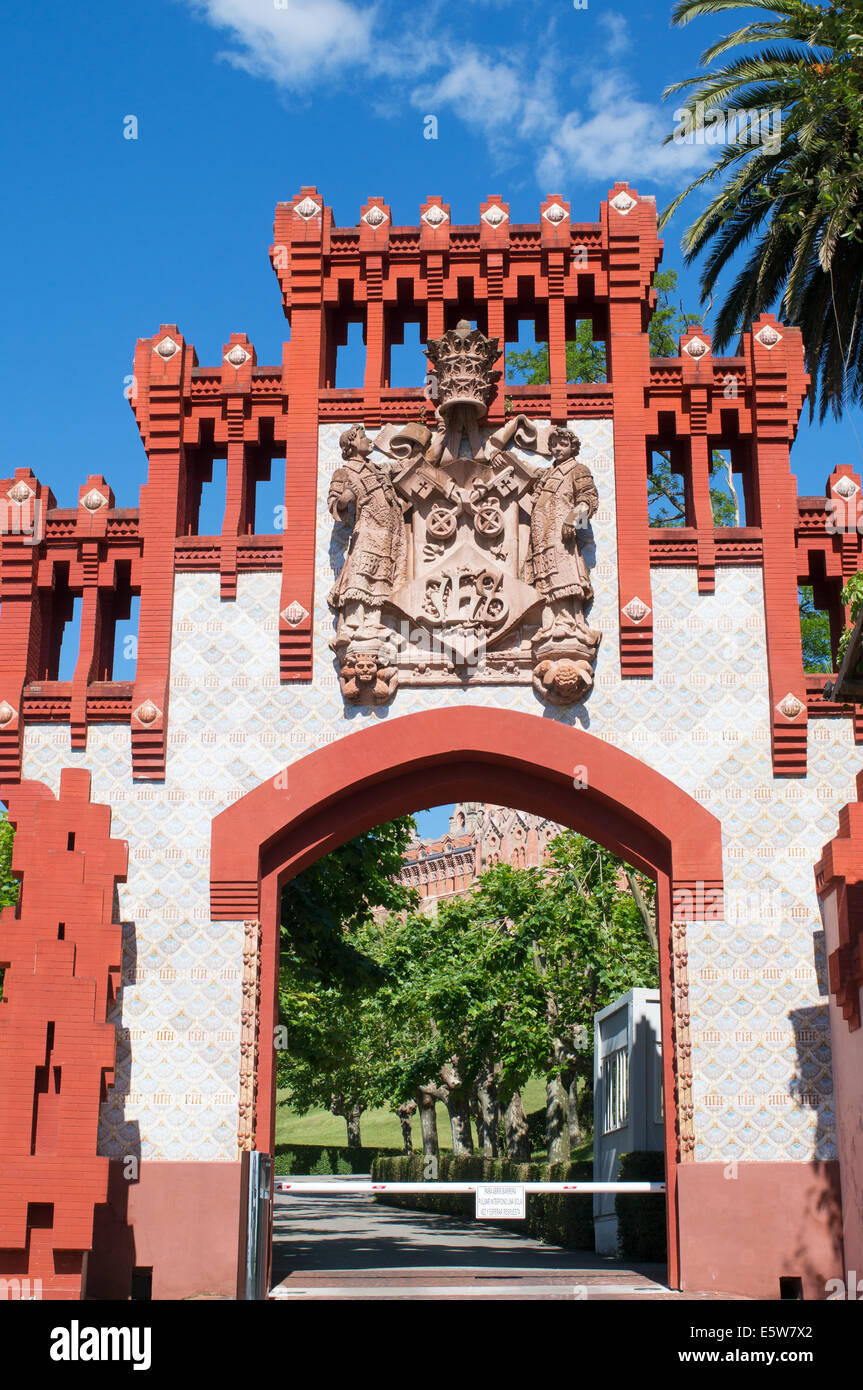 The entrance to the Universidad Pontificia, Comillas,  Cantabria, Northern Spain, Europe - Stock Image