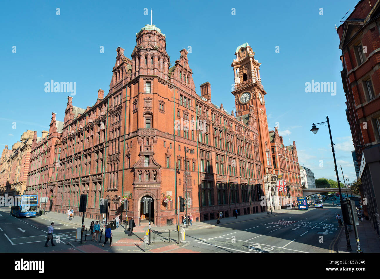 The Palace Hotel located on Oxford Road, Manchester, UK. - Stock Image