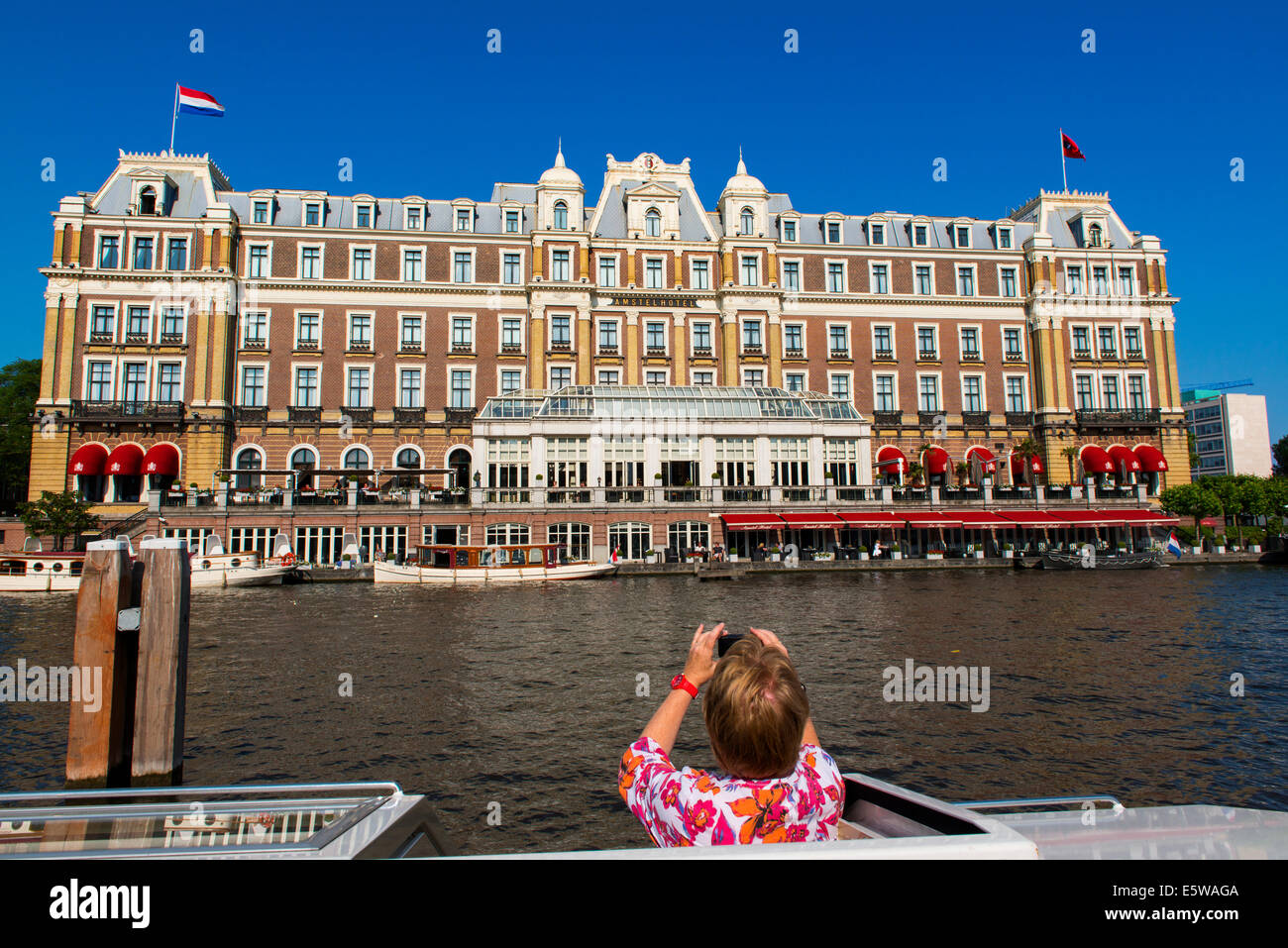 intercontinental amstel hotel, amsterdam, holland - Stock Image
