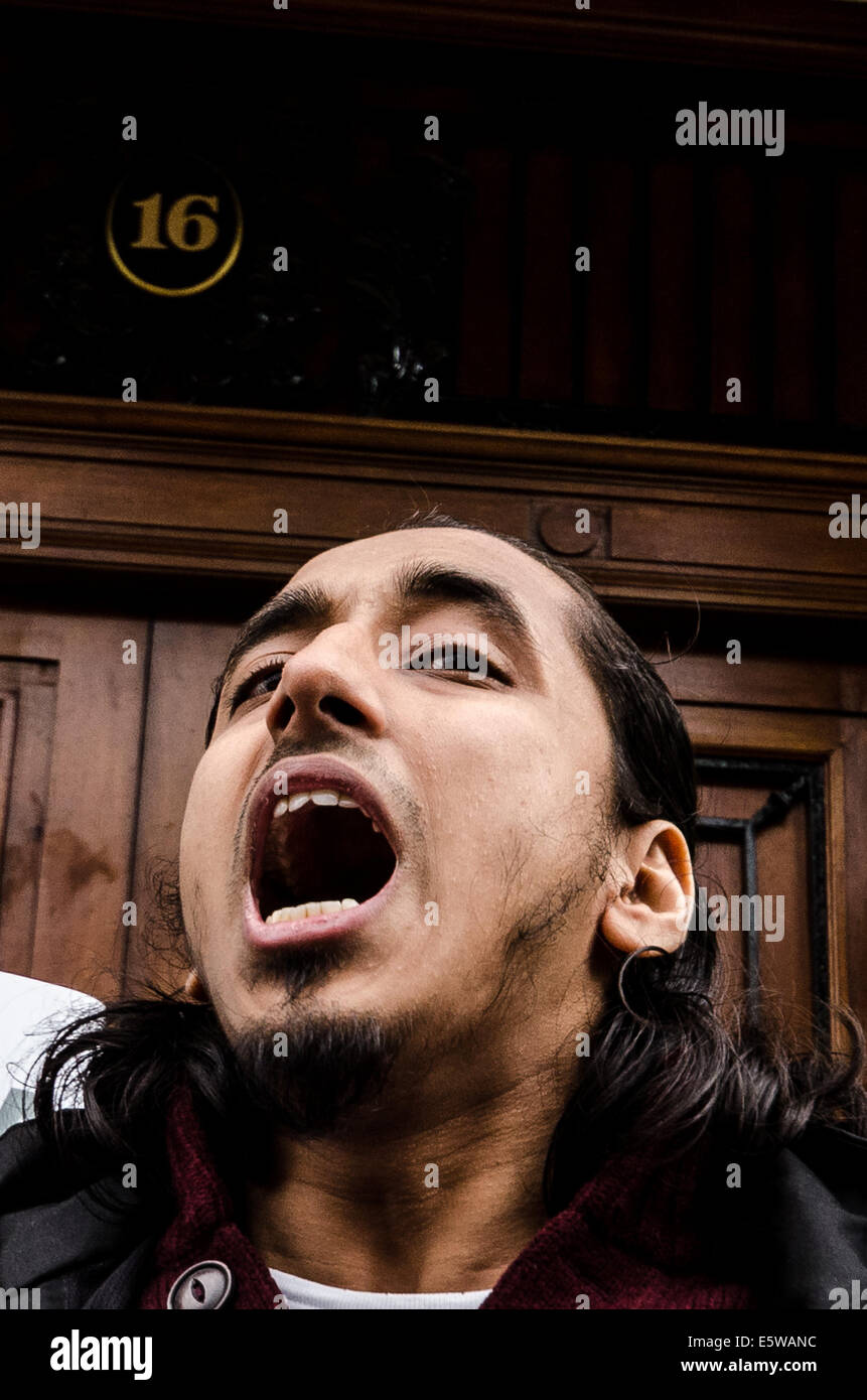 Muslim extremist Afsor Ali on trial at Old Bailey - Stock Image