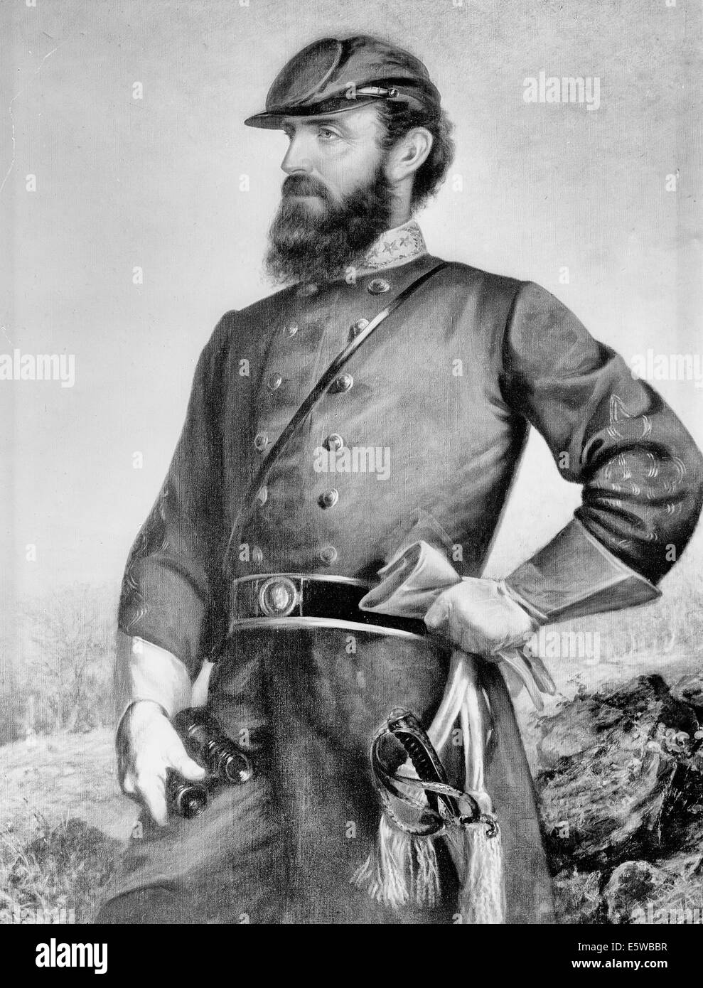 General Thomas 'Stonewall' Jackson, Confederate General - Stock Image