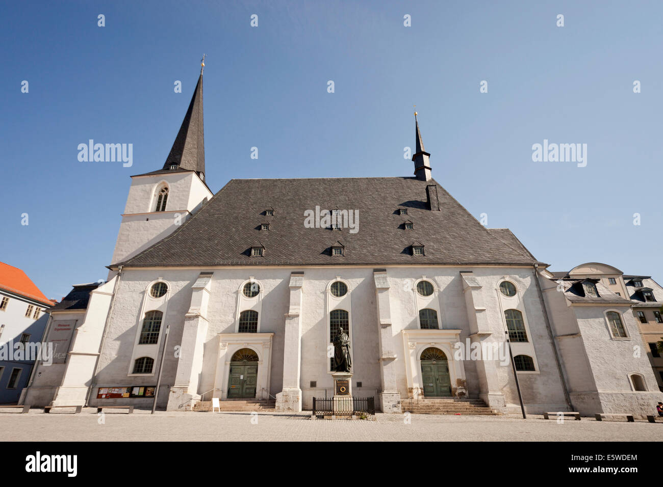 the evangelical St. Peter and Paul church at Herderplatz in Weimar, Thuringia, Germany, Europe - Stock Image