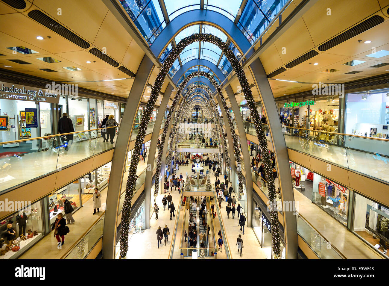 shopping center decorated for christmas europa passage hamburg stock photo 72475427 alamy. Black Bedroom Furniture Sets. Home Design Ideas