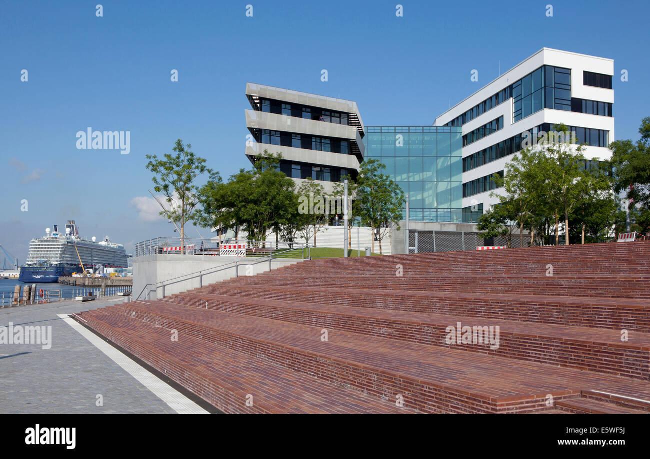 HafenCity Universität Hamburg university, Hamburg, Germany - Stock Image