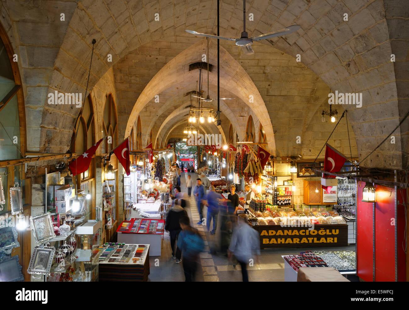 Bazaar, Bazaar District, Gaziantep, Southeastern Anatolia Region, Anatolia, Turkey - Stock Image
