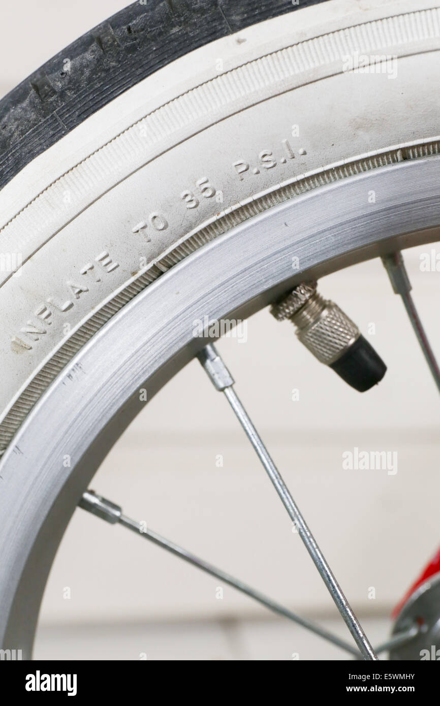 Tire on a bicycle - Stock Image