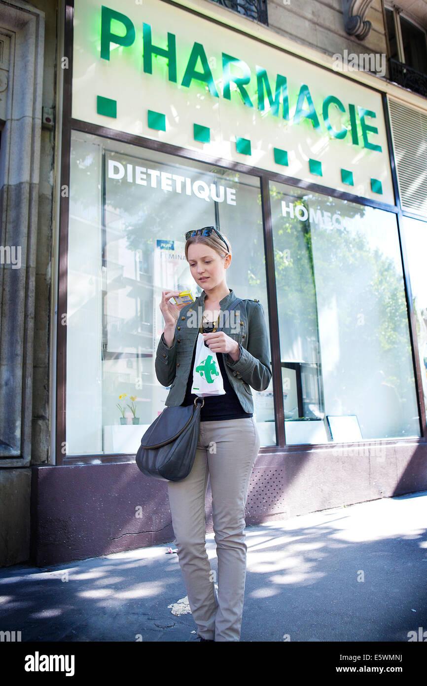 Outside of a pharmacy - Stock Image