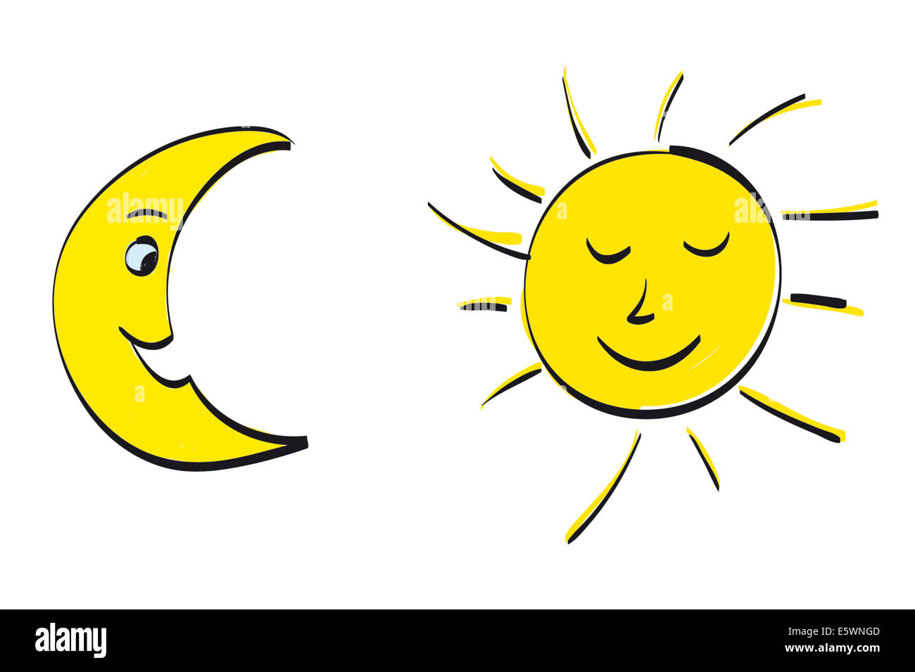 Sun and Moon - Stock Image