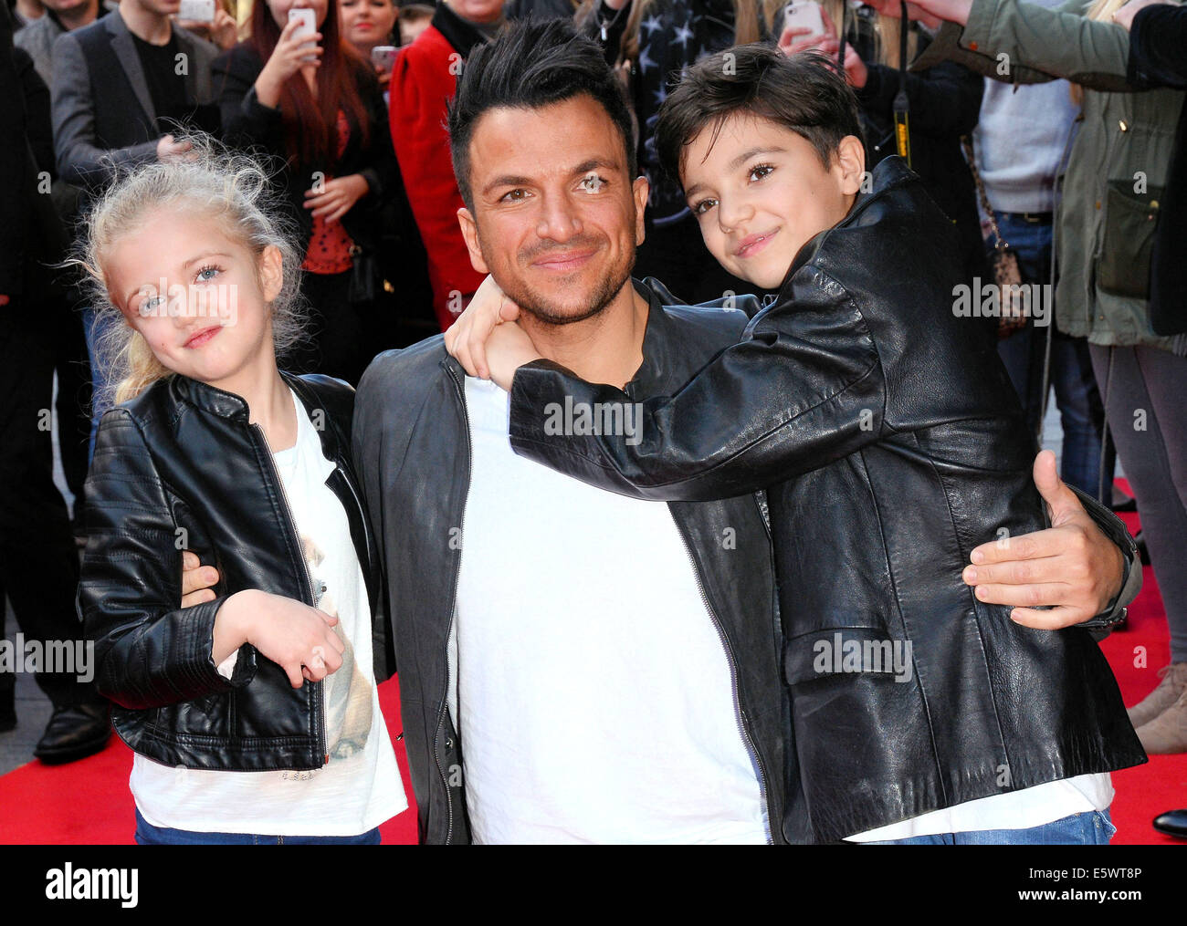 Peter andre and daughter princess tiaamii stock photos peter andre mr peabody and sherman vip gala screening at the vue cinema leicester square london featuring m4hsunfo