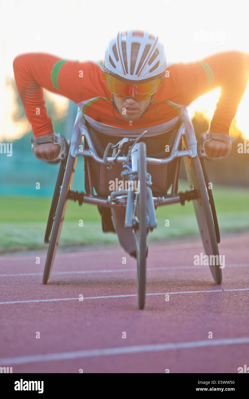 Athlete in para-athletic training - Stock Image