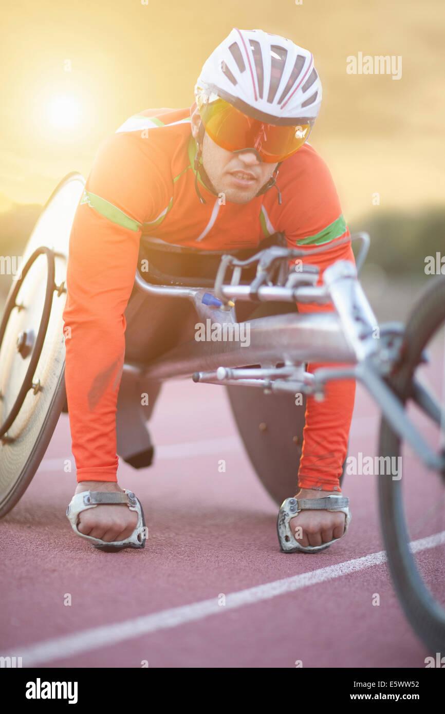 Athlete in para-athletic training Stock Photo