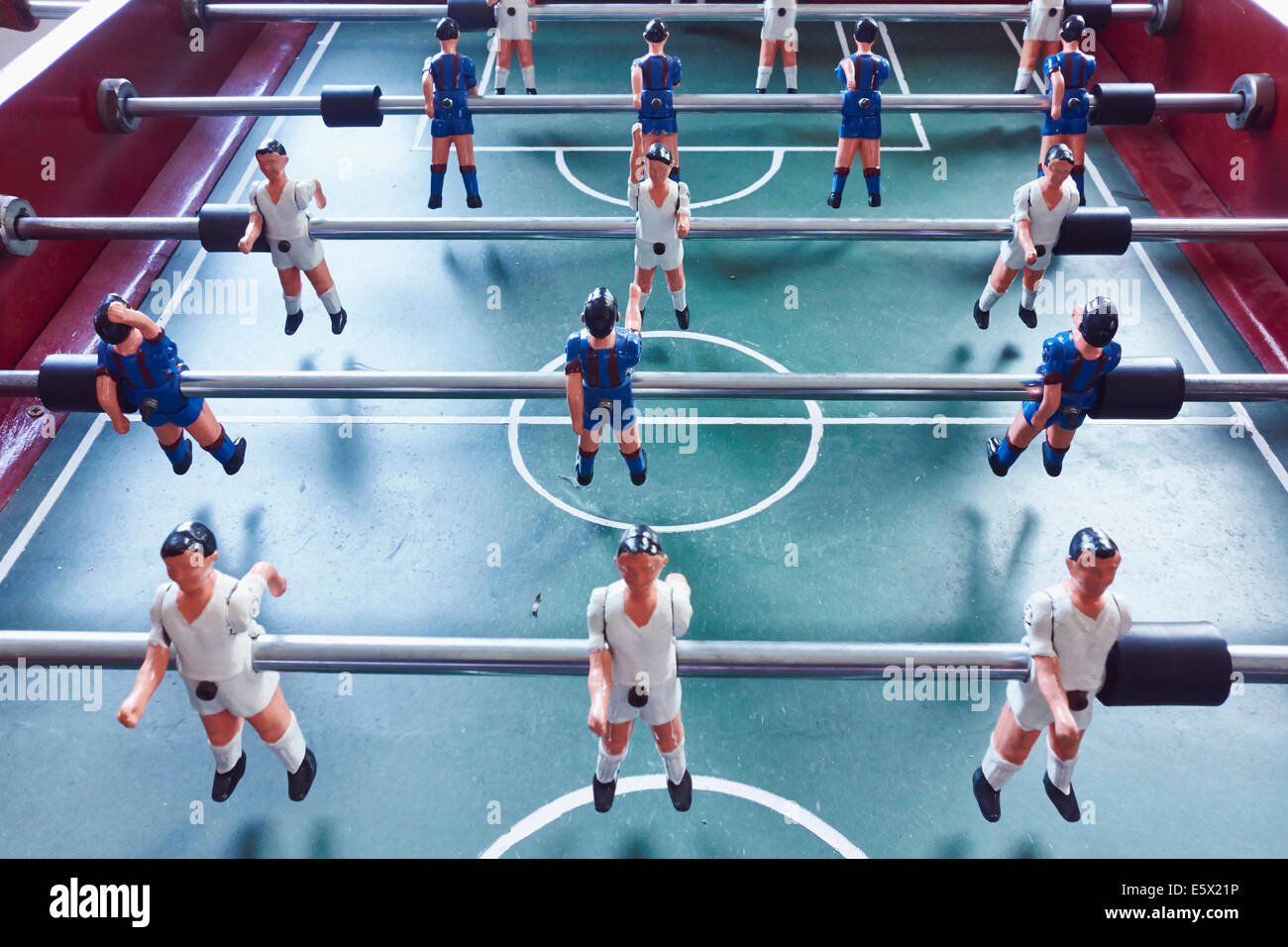 Table football, elevated view - Stock Image
