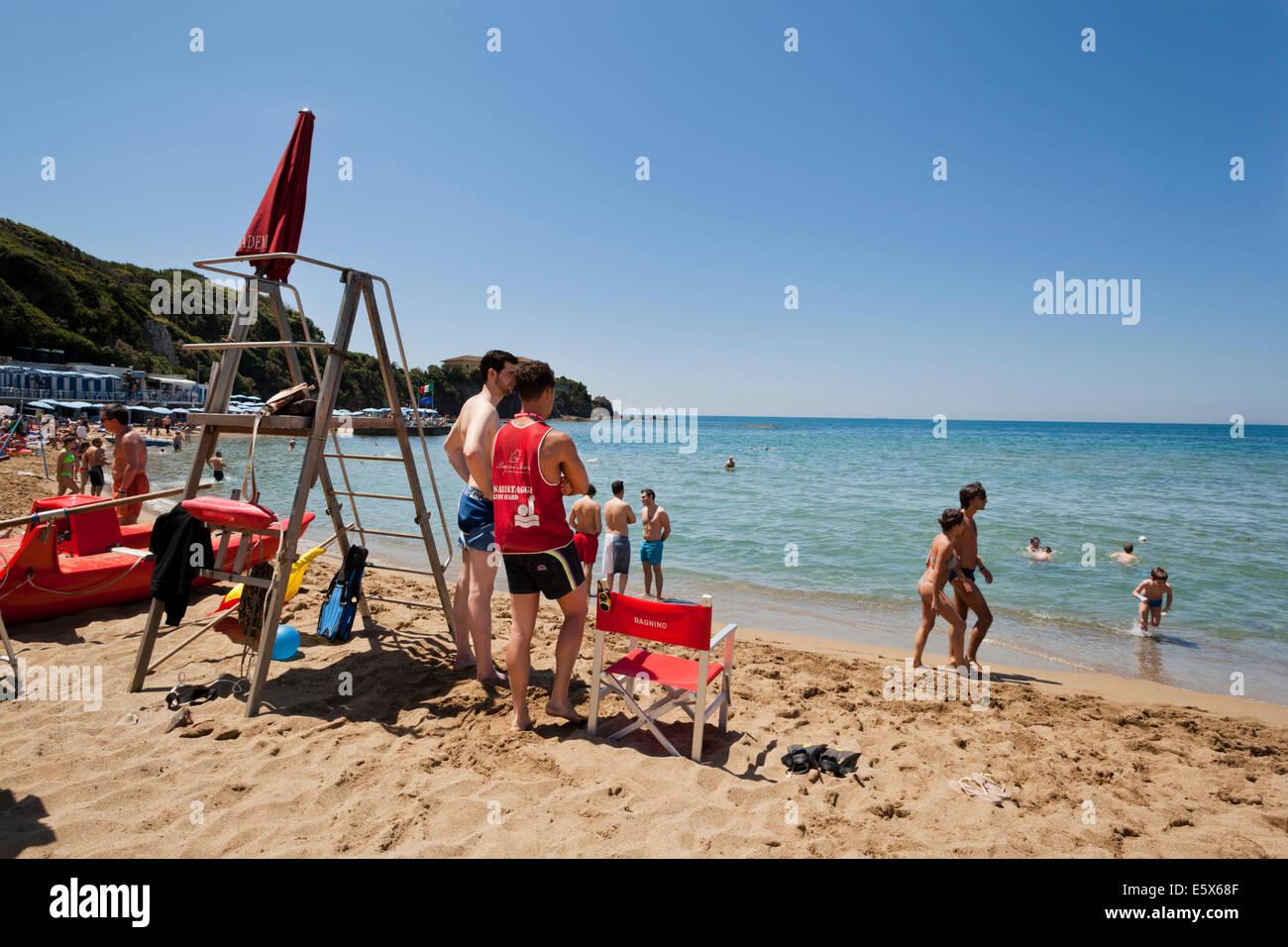 Lifeguard at bagni italia in castiglioncello tuscany stock photo