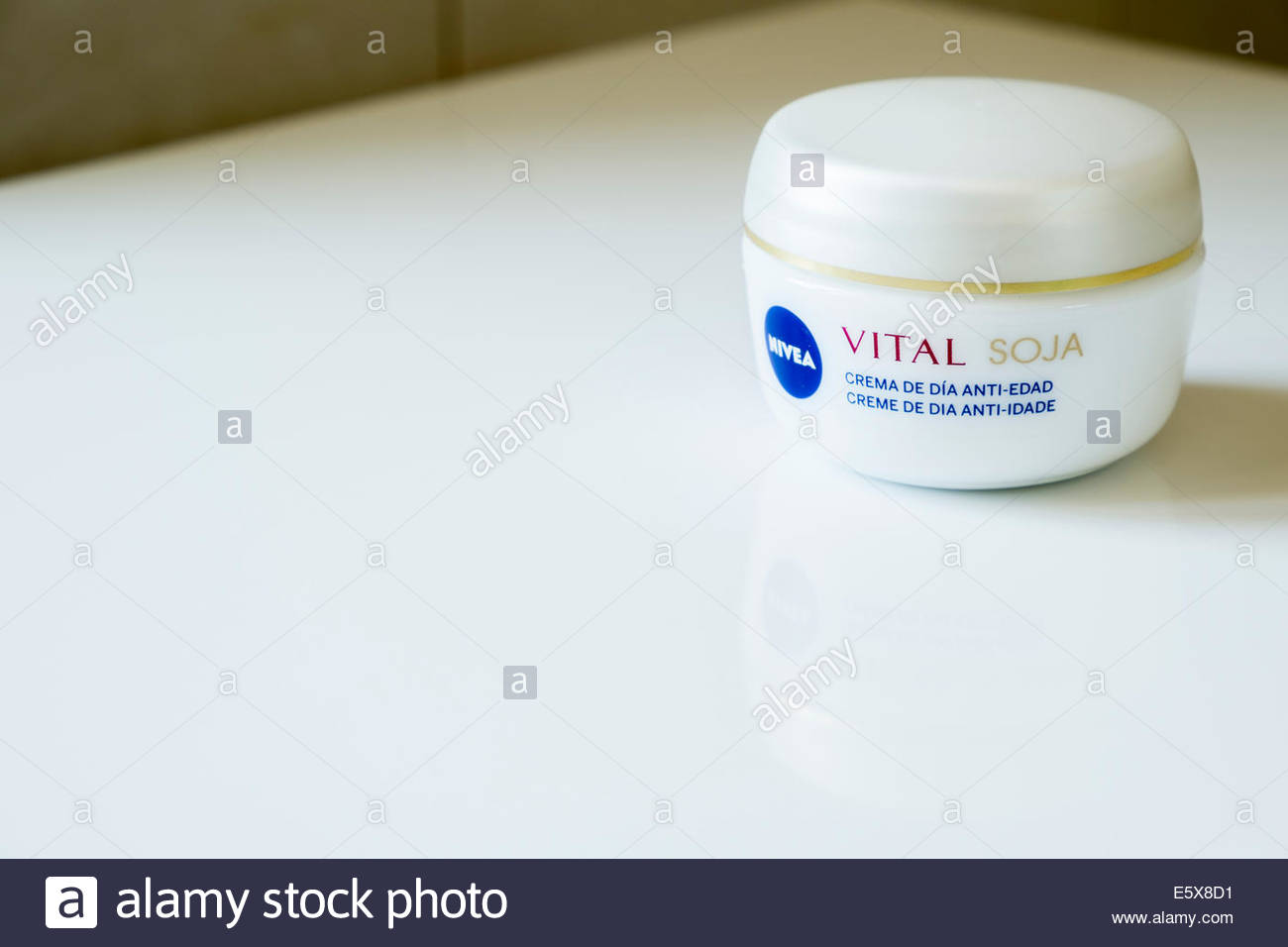 Nivea Vital soja moisturing day cream as sold in Portugal - Stock Image