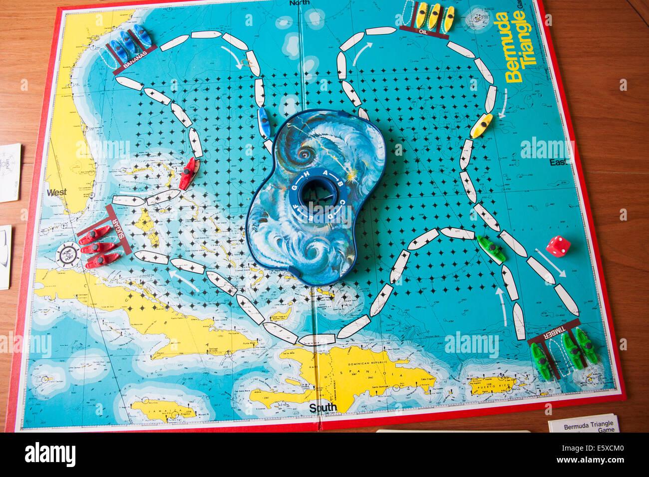Bermuda Triangle Board Game Stock Photo