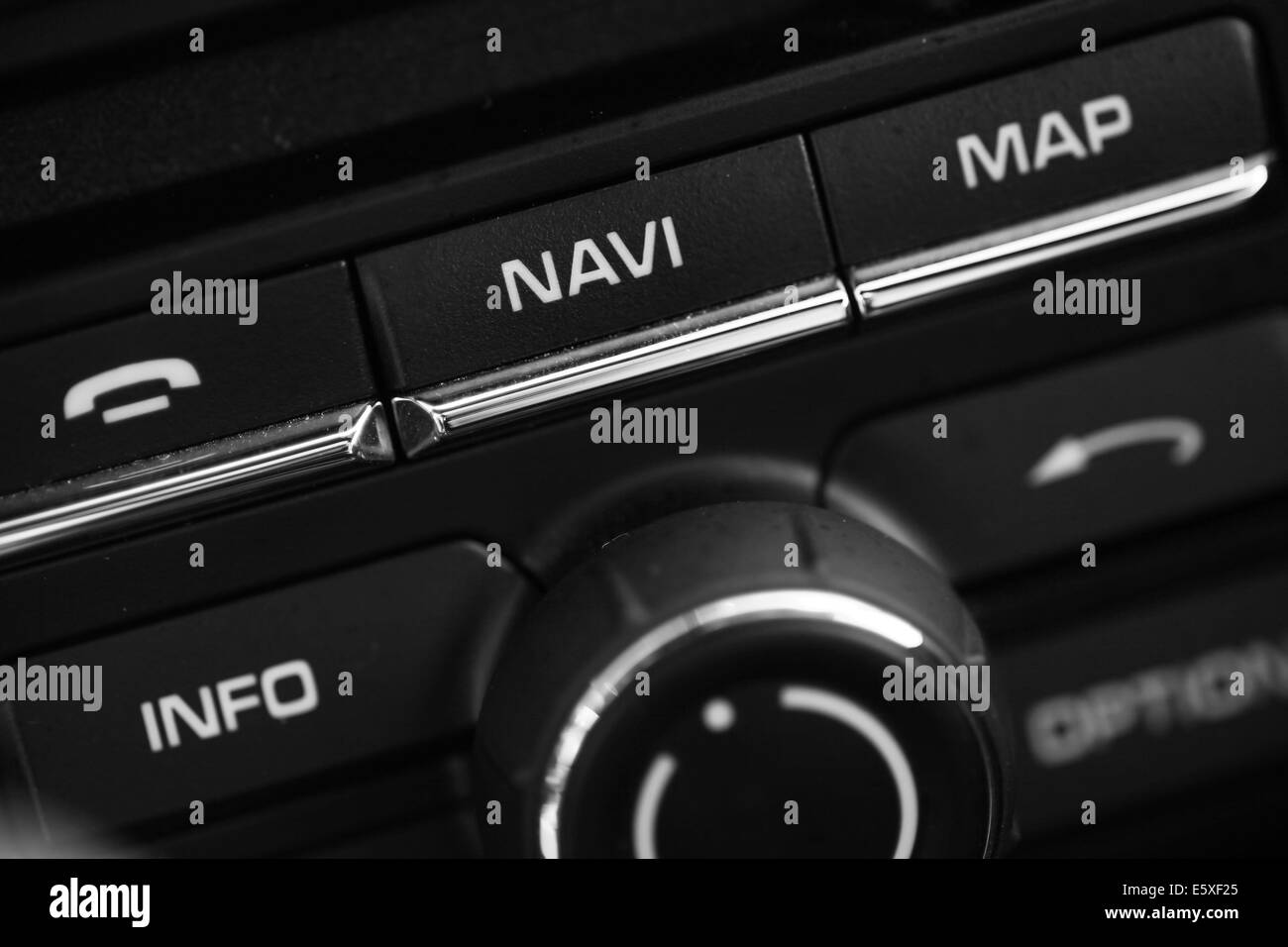 Detail on some buttons inside a car. - Stock Image