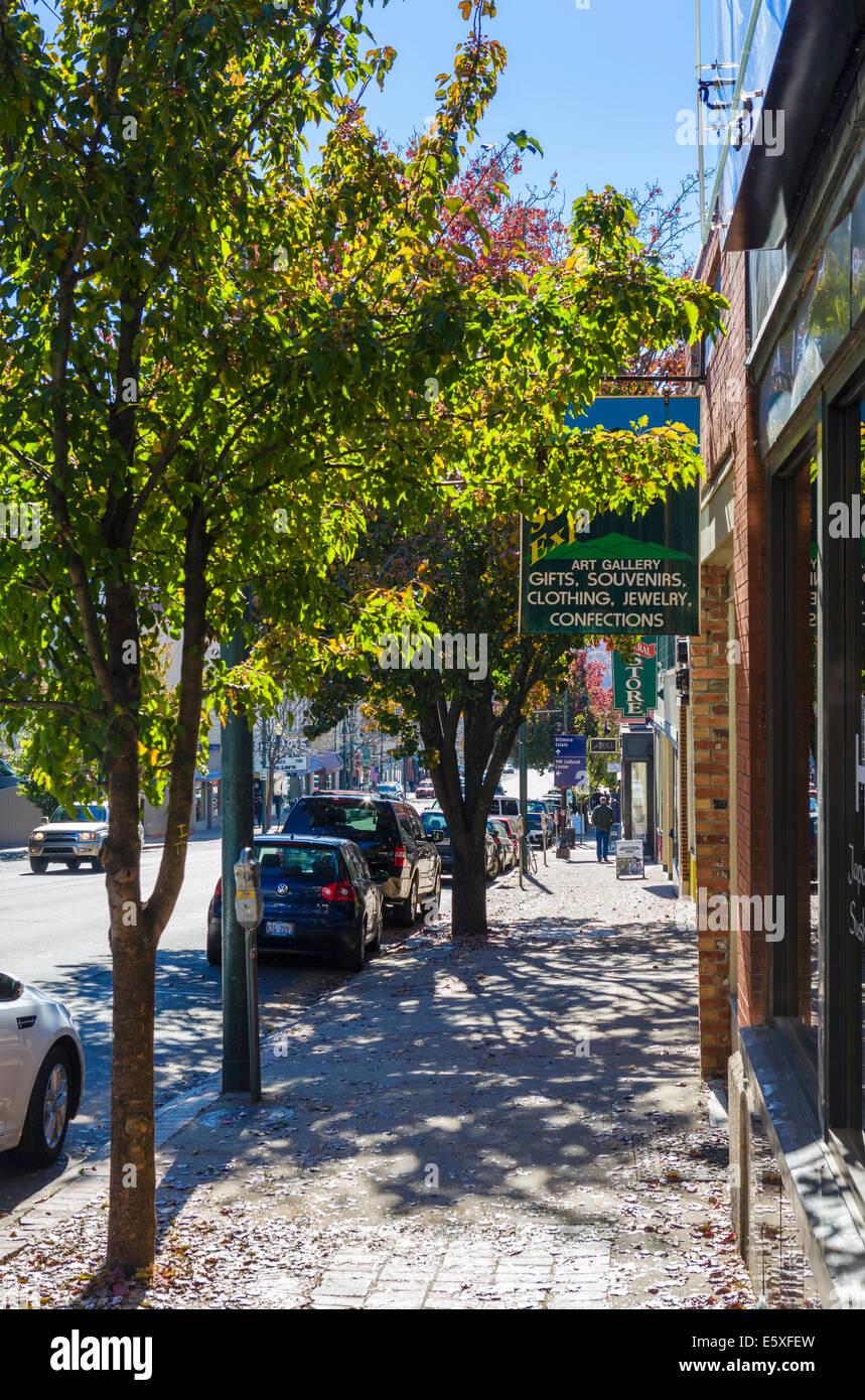 Biltmore Avenue in downtown Asheville, North Carolina, USA - Stock Image
