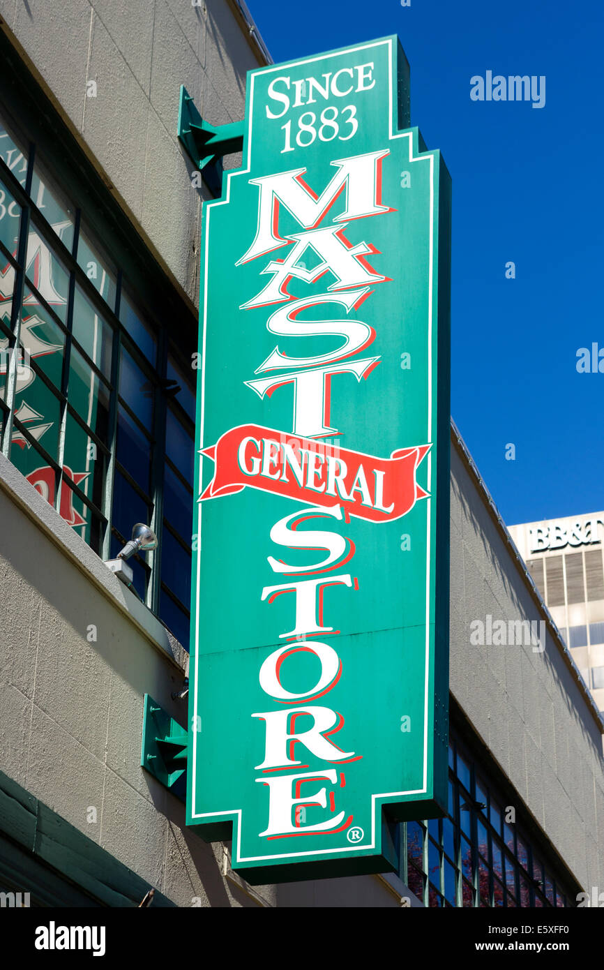 The 19thC Mast General Store on Biltmore Avenue in downtown Asheville, North Carolina, USA - Stock Image