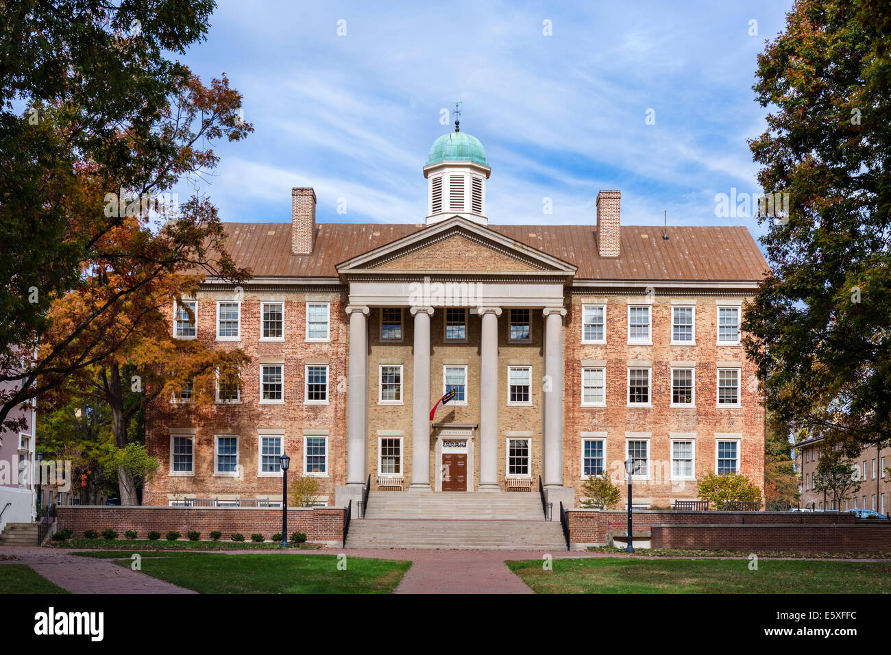 The South Building at the University of North Carolina at Chapel Hil, Chapel Hill, North Carolina, USA - Stock Image