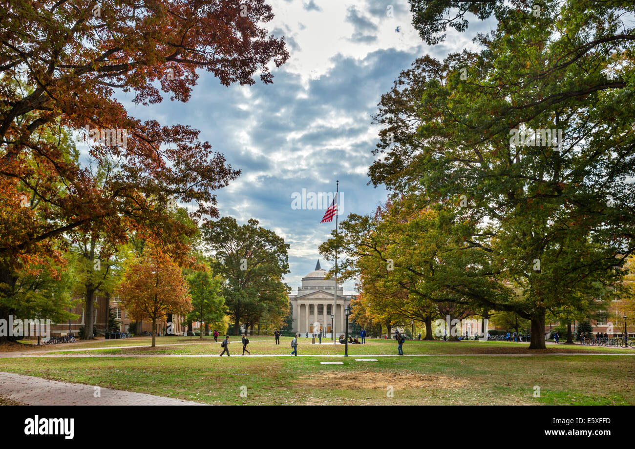 The campus at the University of North Carolina at Chapel Hill, Chapel Hill, North Carolina, USA Stock Photo