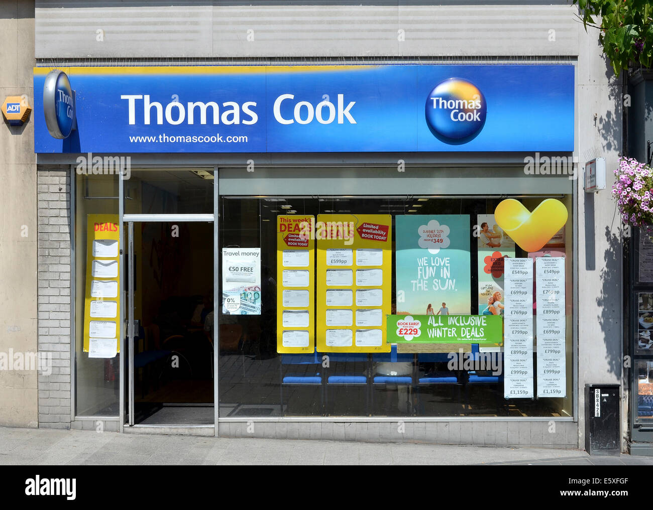 Thomas Cook travel agency office - Stock Image