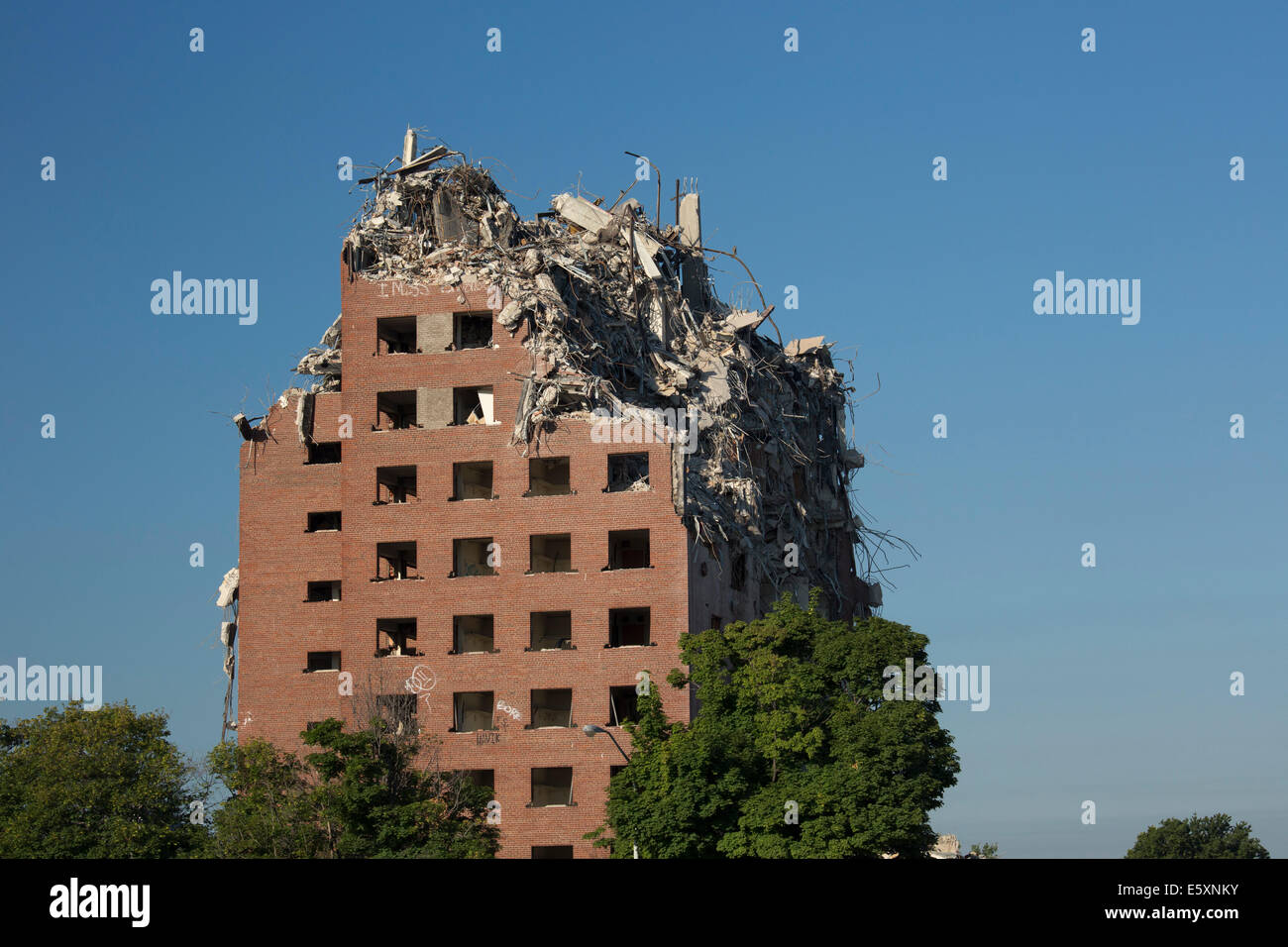 Detroit, Michigan - Demolition of the Brewster-Douglass public Stock