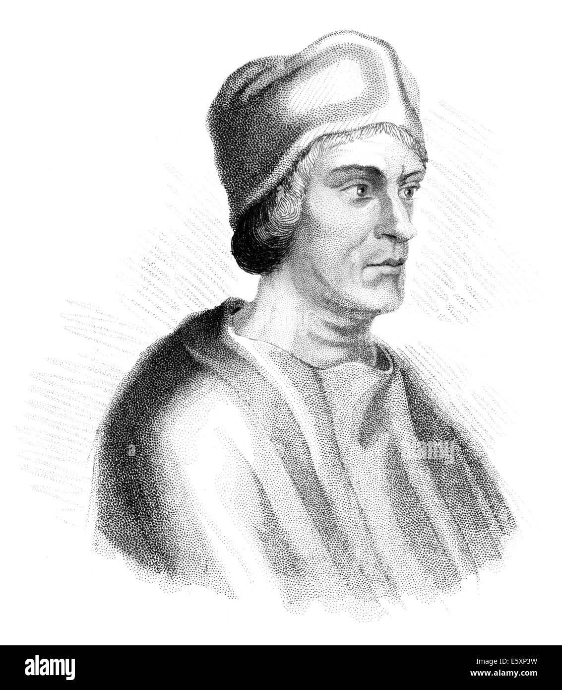 John Colet,  1467-1519, an English churchman and educational pioneer, - Stock Image