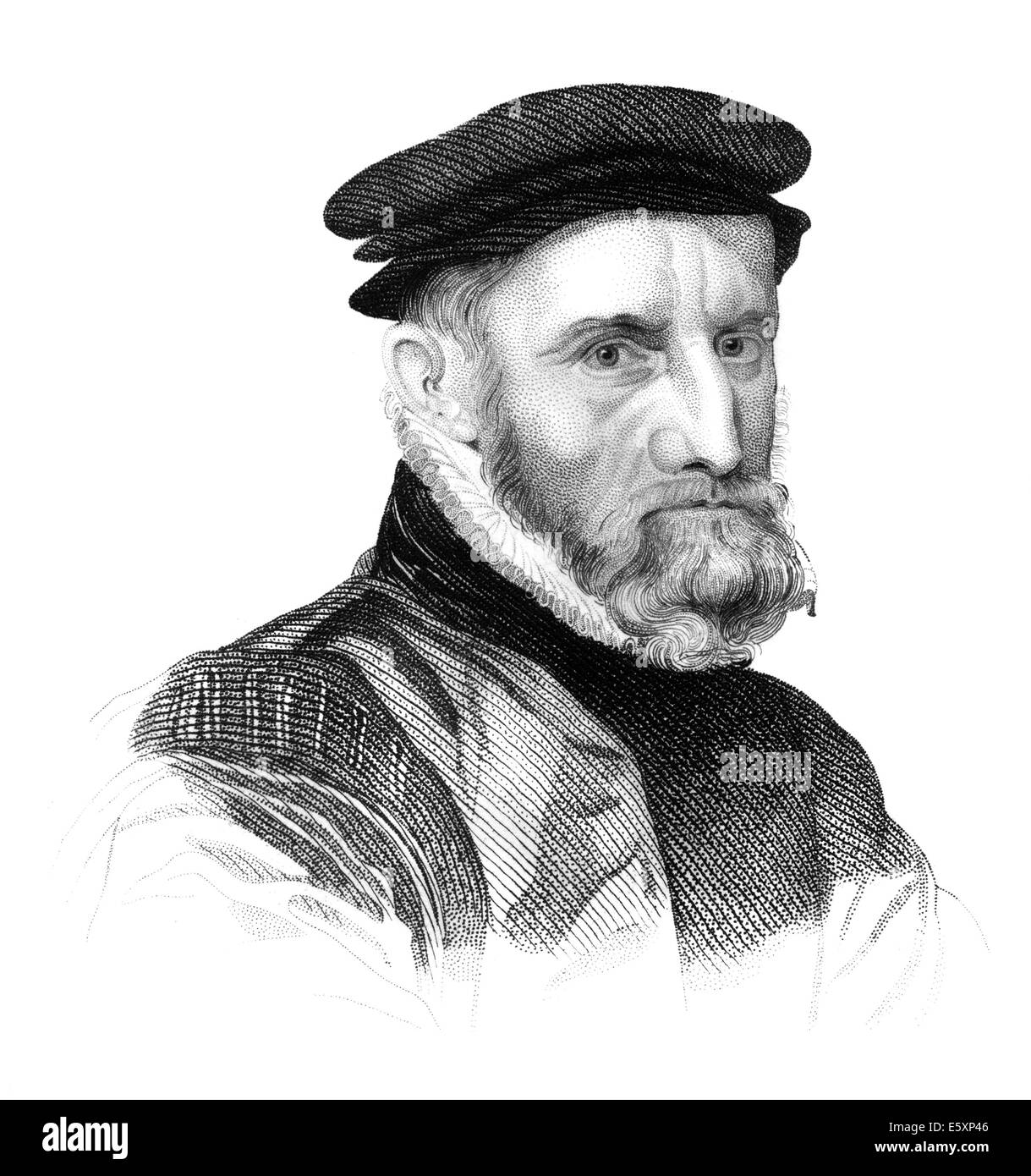 Sir Thomas Gresham the Elder, 1519-1579, an English merchant and financier, - Stock Image