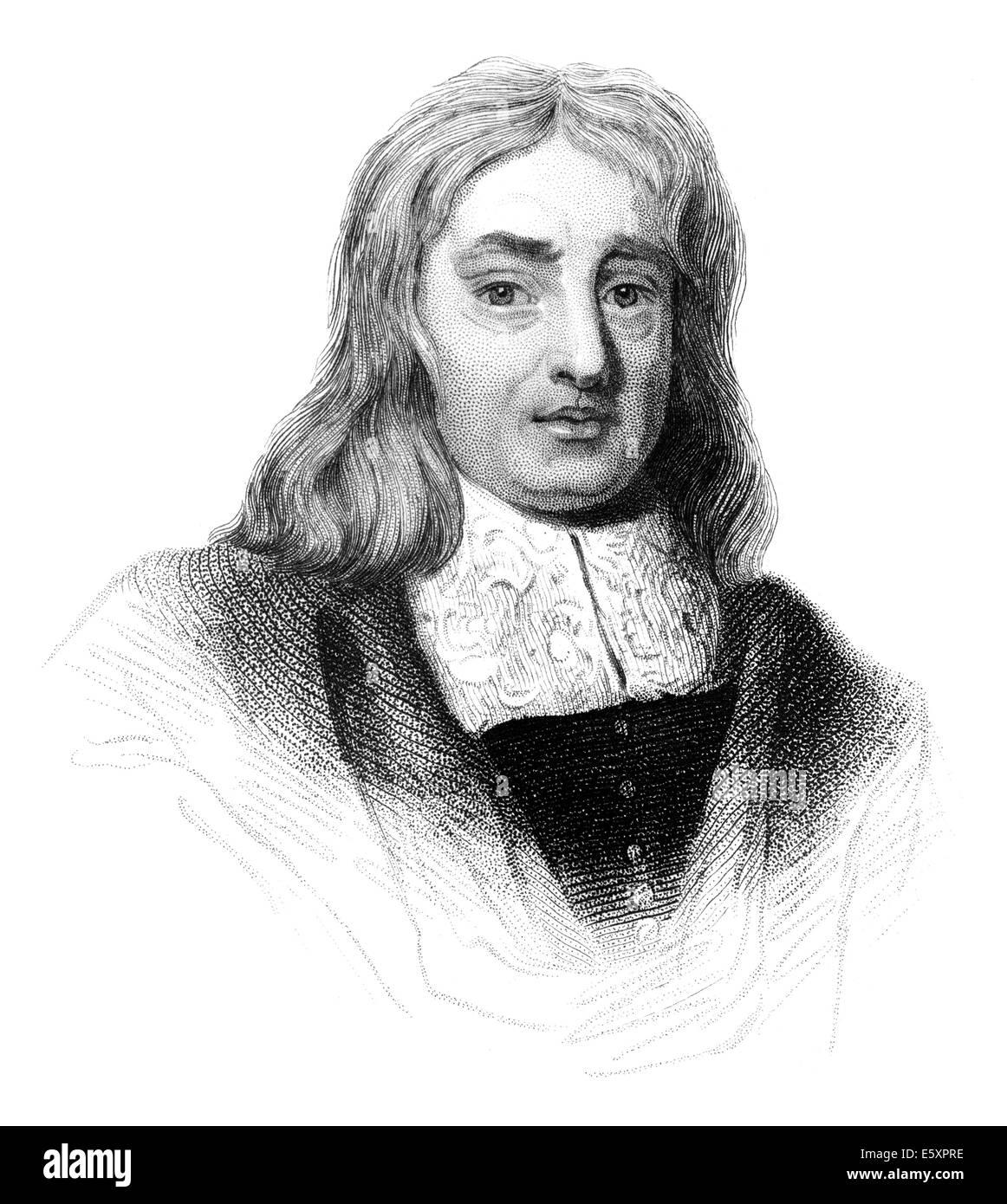 Portrait of Thomas Sydenham, 1624 - 1689, an English physician, - Stock Image