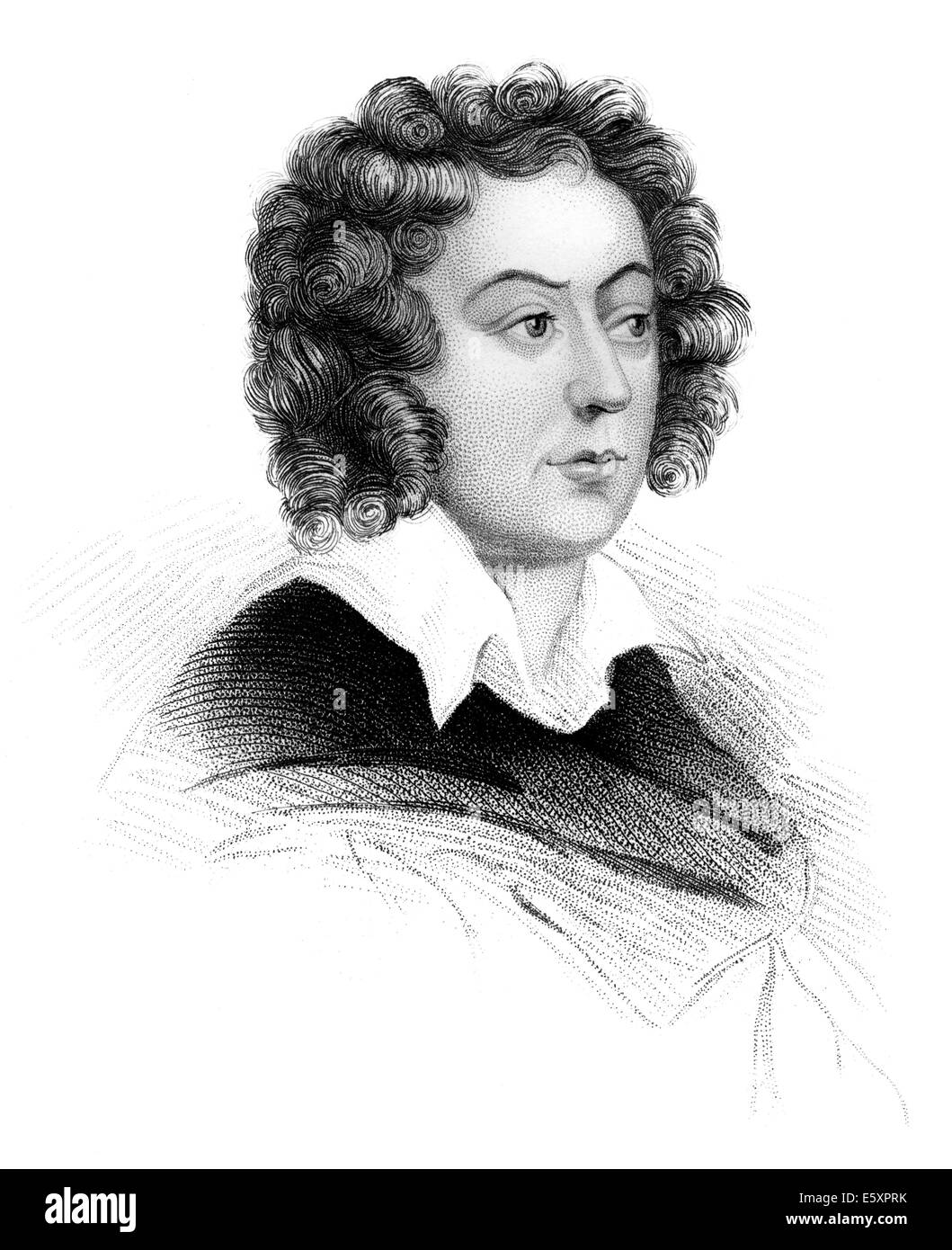 Henry Purcell, 1659-1695, an English composer, - Stock Image