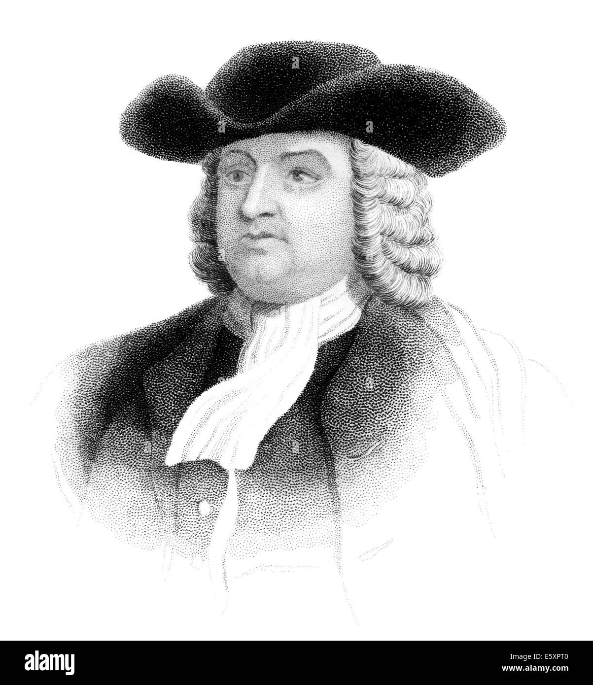William Penn, 1644 - 1718, founder of the colony of Pennsylvania, - Stock Image
