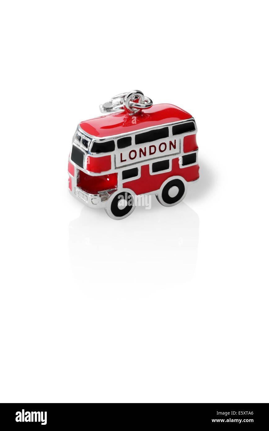 London bus jewelry charm - Stock Image