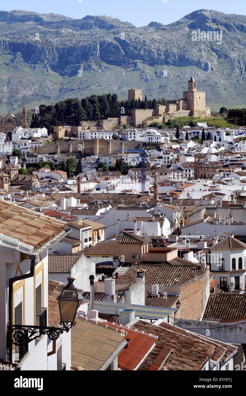 Alcazaba Fortress, Antequera, Andalusia, Spain - Stock Image
