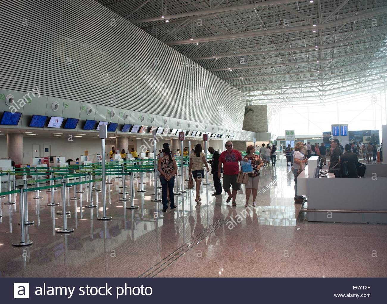 Governador Aluízio Alves International Airport Natal, Brazil Departures and check in. - Stock Image
