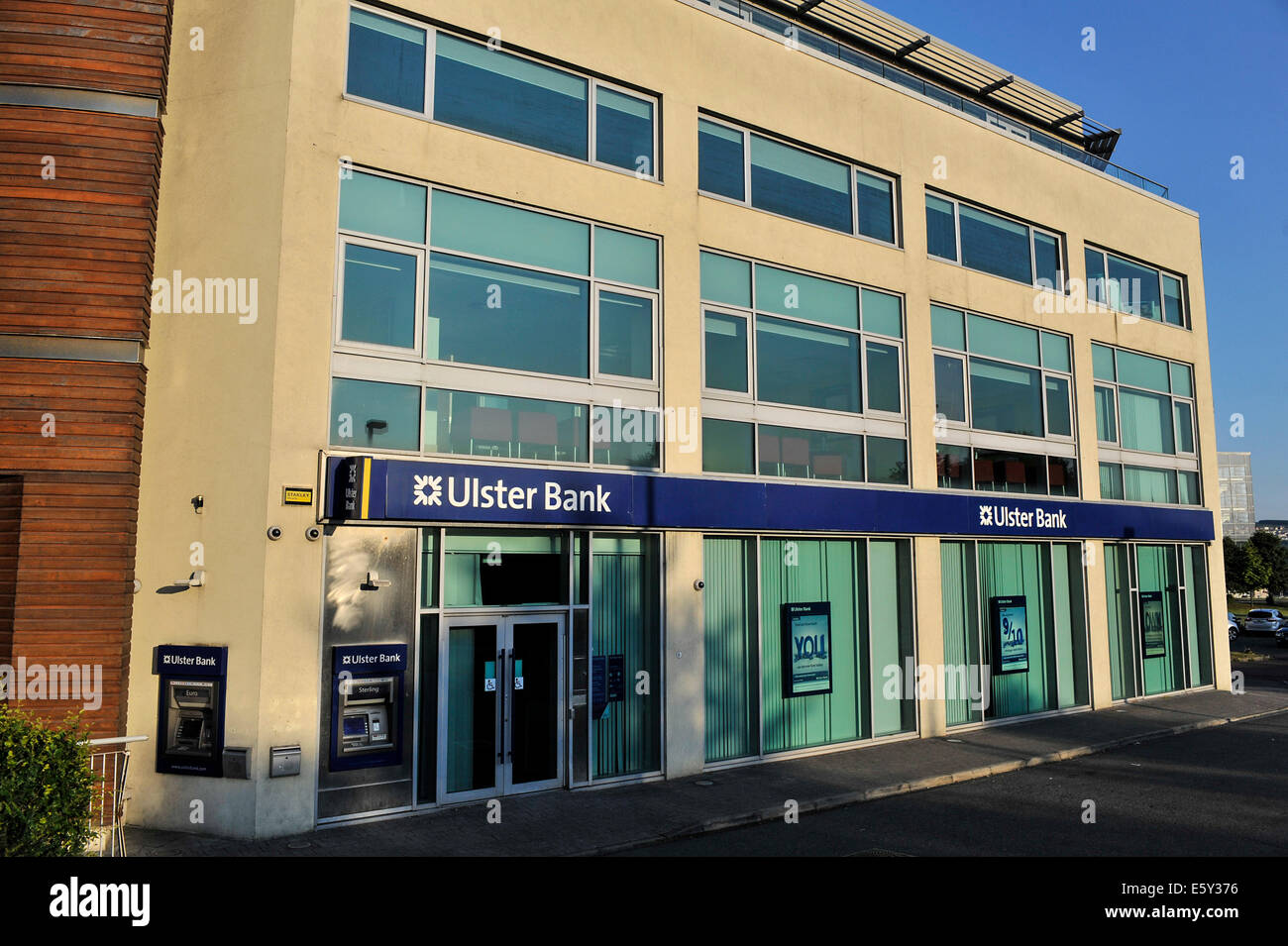 Exterior of Ulster Bank building, Derry, Londonderry, Northern Ireland - Stock Image